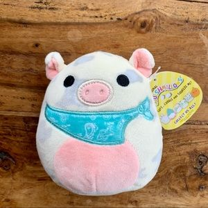 """NWT Squishmallows Rosie the Pig 5"""" Plush Pink Gray"""